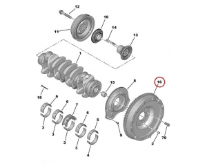 Clutch kit with flywheel OEM  Citroen Jumper, Peugeot Boxer 2,2HDI 06-