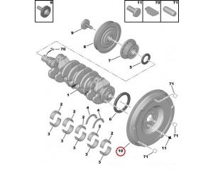 Kaksoismassavauhtipyörä Citroen/Peugeot 1,6HDI
