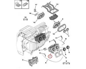 Ilmastoinnin kytkin Jumper/Boxer/Ducato 2006-