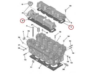 Tiiviste, ventiilikoppa PSA TU5JP4