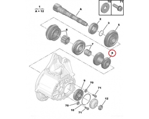 3-4 käigu hammasratas Citroen/Peugeot BE4N käigukast