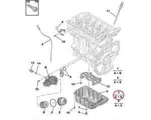 Oil filter OEM Citroen/Peugeot