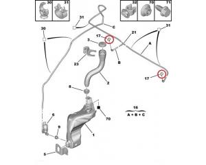 Klaasipesuri pihusti Citroen C4/ Peugeot 308