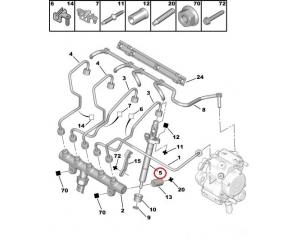 Pihusti Citroen/Peugeot 2,0HDI 16V