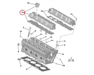 Klapikambri kaas sisselase Citroen Peugeot EW7A / EW10A