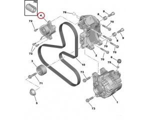 Auxiliary belt tensioner Peugeot/Citroen 1.1/1.4/1.6/2.0  97-