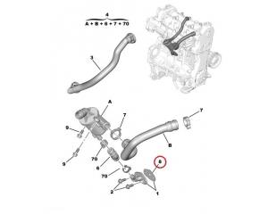 EGR toru tihend Citroen Nemo/Peugeot Bipper 1,3HDI