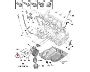 Coolant flange Jumper/Boxer/Ducato 2,2HDI 2006-