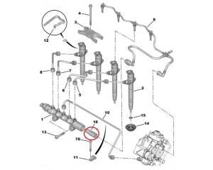 Kütuse ülerõhuklapp Jumper/Boxer/Ducato/Transit 2,2HDI