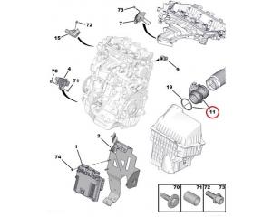 Mass air flow meter OEM Citroen/Peugeot 2.0HDI