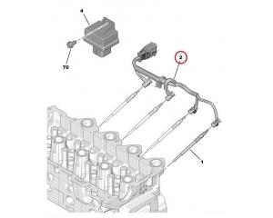 Eelsüüteküünalde juhtmesari Citroen/Peugeot