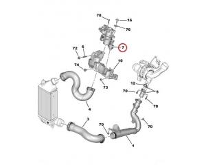 Õhu dosaator Citroen/Peugeot 2,0HDi DW10CTED4