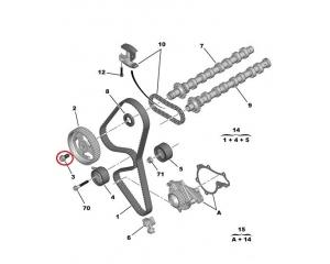 Nukkvõlli rihmaratta polt Citroen/Peugeot 1,6HDi