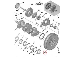 Dual mass flywheel Citroen/Peugeot