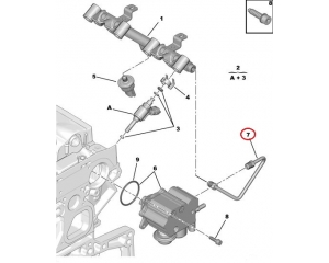 Kütusetoru Citroen/Peugeot 1,6THP