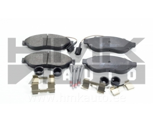 "Brake pad set front 2- sensors Jumper/Boxer/Ducato 2006- 15"" wheel"