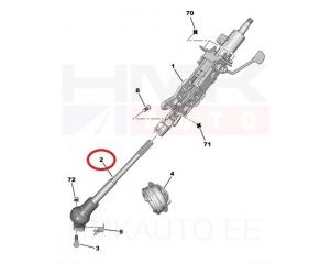 Steering column joint Jumpy/Expert 07-