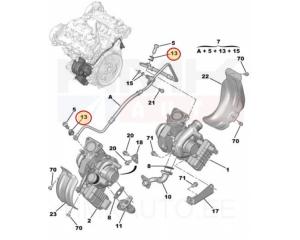 Turbo õlitustoru tihend Citroen/Peugeot