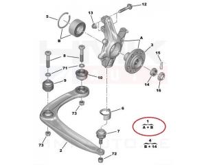 Käändmik vasak Citroen C4, DS4, C4 Picasso, Berlingo/Peugeot 307, 308, 3008, Partner