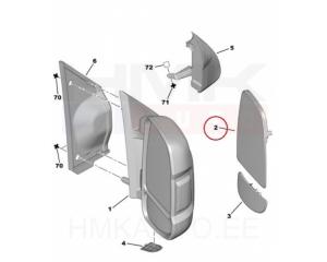 Peegliklaas parem ülemine soojendusega Jumper/Boxer/Ducato 06-