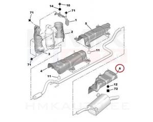 Summuti  kuumaplekk Citroen/Peugeot 1,6HDi