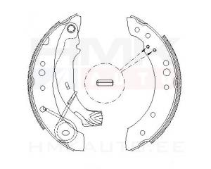 Trummelpiduriklotside komplekt Citroen C2/C3, Peugeot 1007