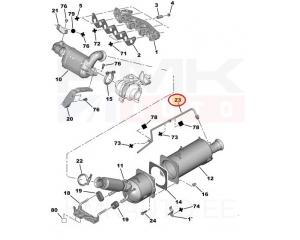 FAP filtri rõhutoru Citroen/Peugeot