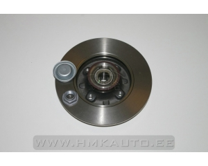 Brake disc rear Peugeot 307/Citroen C4
