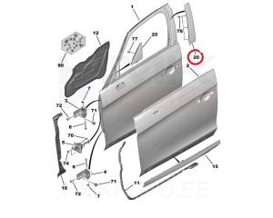 Esiklaasi liist vasak DS5