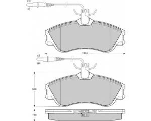 Esipiduriklotside komplekt Citroen Xsara/Berlingo; Peugeot Partner