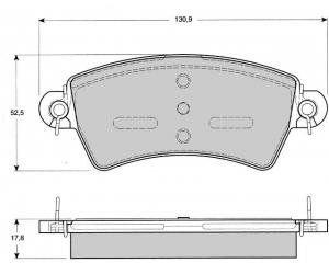 Piduriklotside komplekt esimene Peugeot 206/306; Citroen Xsara