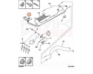 Топливная трубка Citroen/Peugeot 1,6HDi