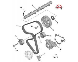 Hammashihnasarja Peugeot/Citroen 1,4HDI