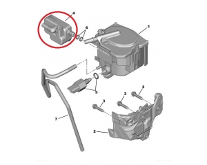 Diesel fuel reheater Citroen/Peugeot 1,6HDI