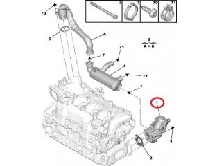 EGR клапан OEM Citroen/Peugeot/Ford 1,6HDI
