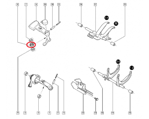 Gear lever bearing spacer Renault PK5/PK6/PF6