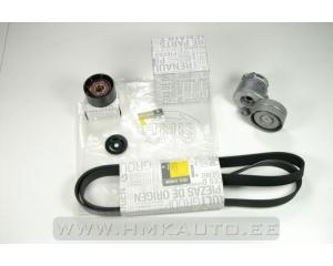 Alternator belt kit Renault Trafic II/Opel Vivaro/Nissan Primastar 1,9DCi AC+