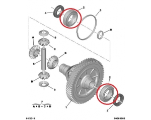 Gearbox (differential) bearing 38x63x17xPSA MA/BE3/BE4 gearbox