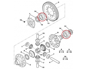 Gearbox (differential) bearing 46x75x18 PSA  ME/ML6/MLUC/ML5C/ML5T gearbox