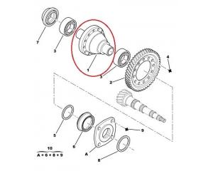 Reduktor (differentsiaal) komplektne Jumper/Boxer/Ducato 3,0HDI 2006-