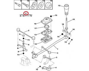 Gear selector OEM Citroen/Peugeot
