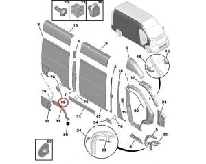 Передний молдинг боковой панели правый Jumper/Boxer/Ducato 2006- L2