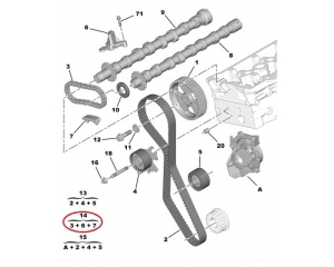 Camshaft chain set Citroen C5