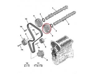 Nukkvõlli rihmaratas Citroen/Peugeot TU5JP4