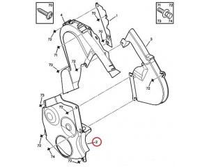 Timing belt cover lower Peugeot/Citroen 2,0 HDI DW10 engine