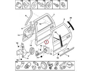 Ограничитель двери задний Peugeot 406