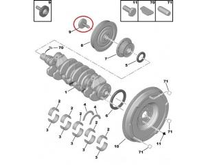 Болт крепления шкива коленвала PSA 12x150-50