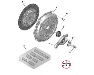 Clutch kit OEM Peugeot/Citroen 1,6HDI