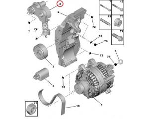 Mitmikkiilrihma pinguti Citroen C5/Peugeot 407,607  2,7/3,0HDI#