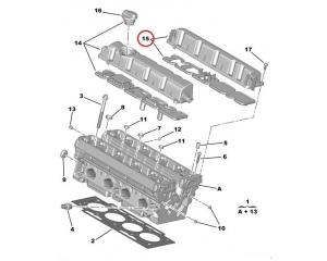 Klapikambri kaas väljalase Citroen Peugeot EW7A / EW10A